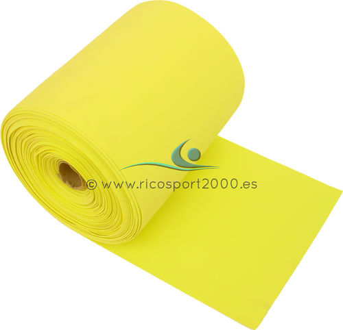 CINTA PLANA LATEX FUERTE XRICAL 25 M. (AMARILLO)